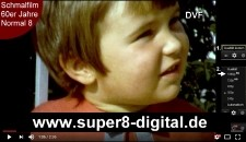 Digitalisierungen 8mm-Film Normal8, Super 8 auf DVD Bluray oder USB Festplatte